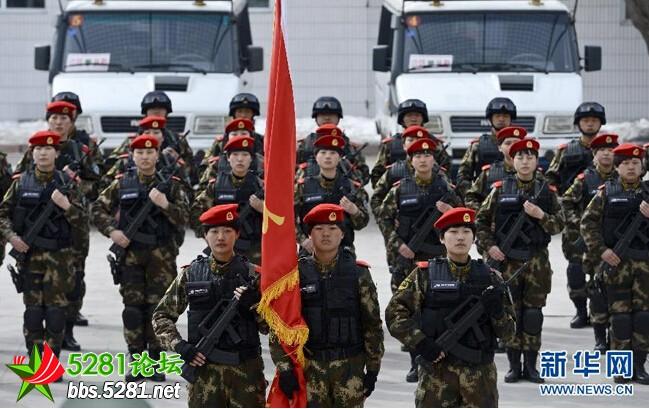 探秘武警新疆边防总队首支女子 特种部队图片