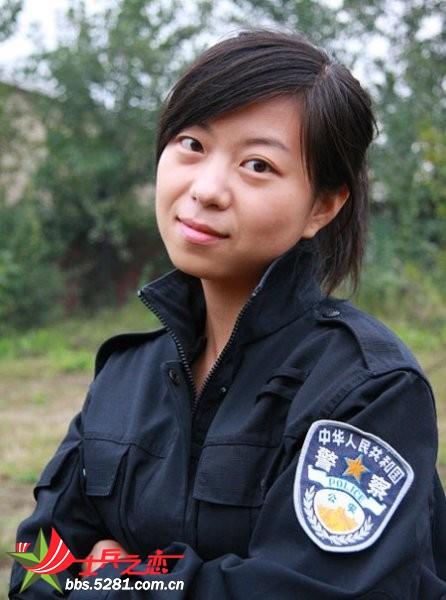 中国女警的英姿