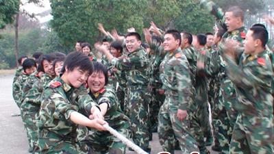 快乐的武警女兵